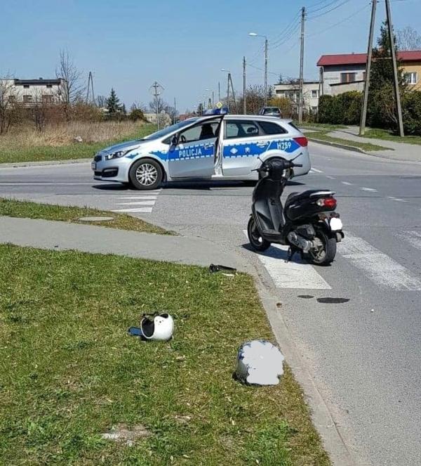 Wypadek na skrzyżowaniu ulic Folwarcznej z Partyzantów