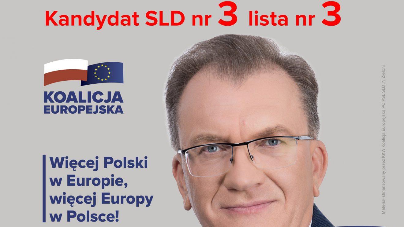 Ireneusz Sitarski – kandydat SLD na liście Koalicji Europejskiej na Mazowszu