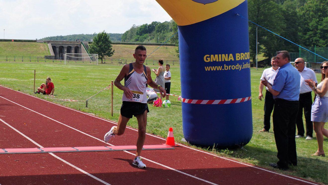 Nasi biegacze w jubileuszowym biegu międzynarodowym w Brodach