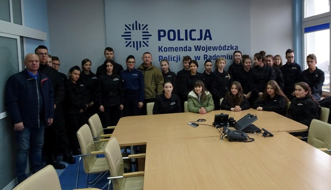 Uczniowie ZS im. KOP z wizytą w Komendzie Wojewódzkiej Policji