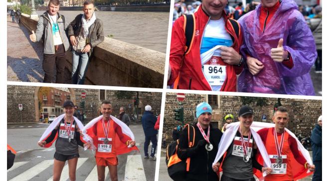 Nasi biegacze pobiegli w maratonie w Weronie