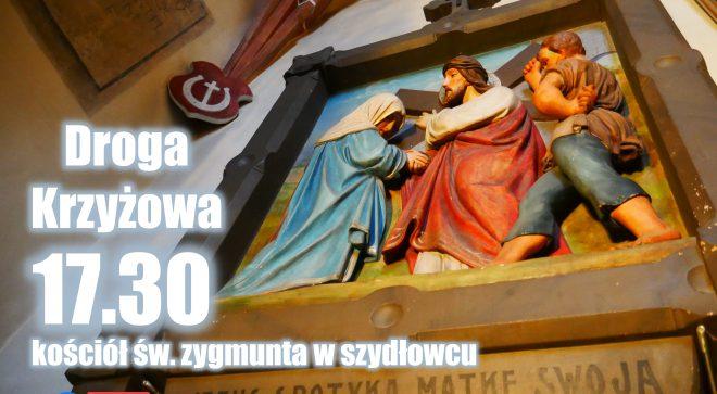 Transmisja Drogi Krzyżowej z kościoła św. Zygmunta w Szydłowcu. 27.03.2020.