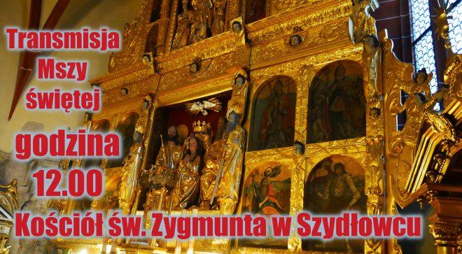 Transmisja mszy świętej z kościoła św. Zygmunta w Szydłowcu. 29.03.2020.