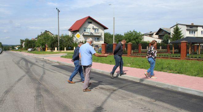 Nowy chodnik na ulicy Hubala