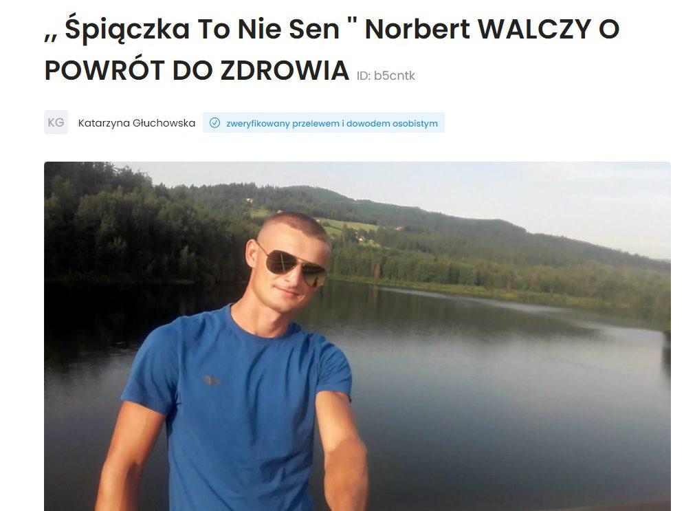 Norbert z gminy Jastrząb potrzebuje naszej pomocy!