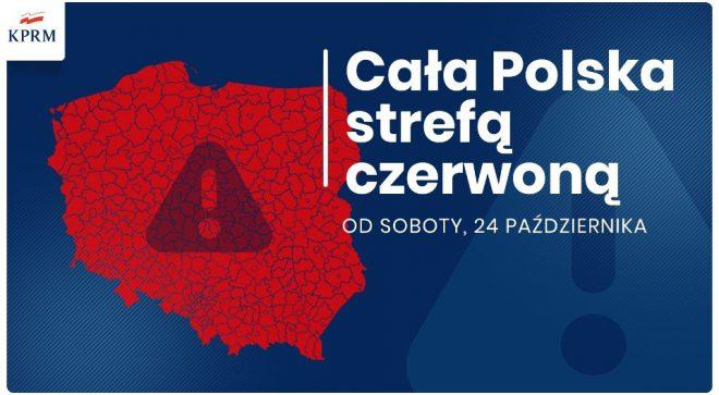 Cała Polska czerwoną strefą! Nowe obostrzenia!