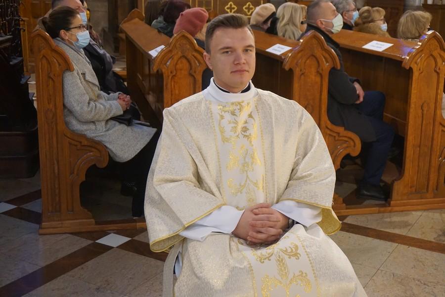 Krystian Korba z Szydłowca, przyjął święcenia diakonatu