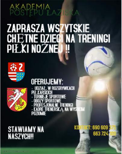 Akademia Postępu Łaziska zaprasza dzieci na treningi
