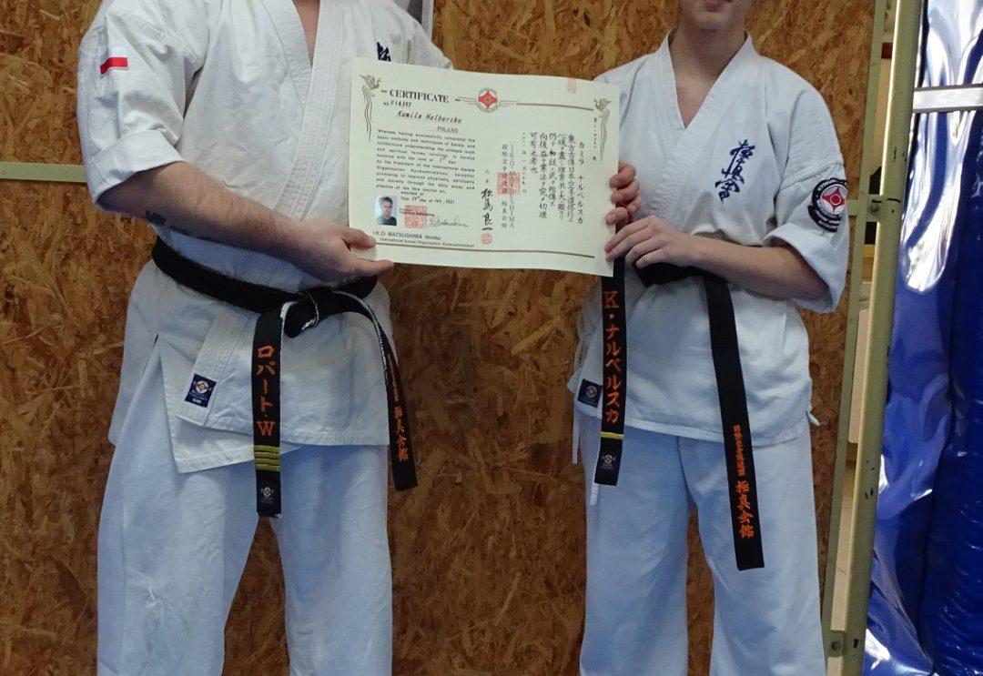 Kamila Nalberska z czarnym pasem karate