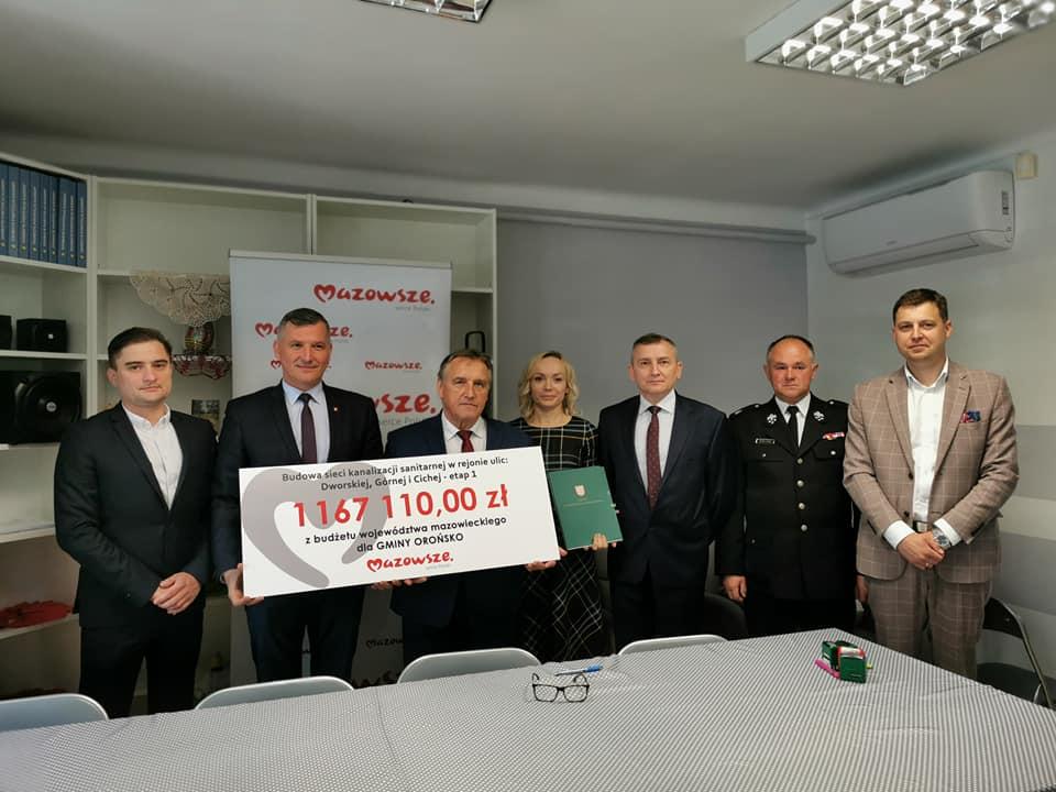 Gmina Orońsko otrzymała wsparcie na budowę kanalizacji