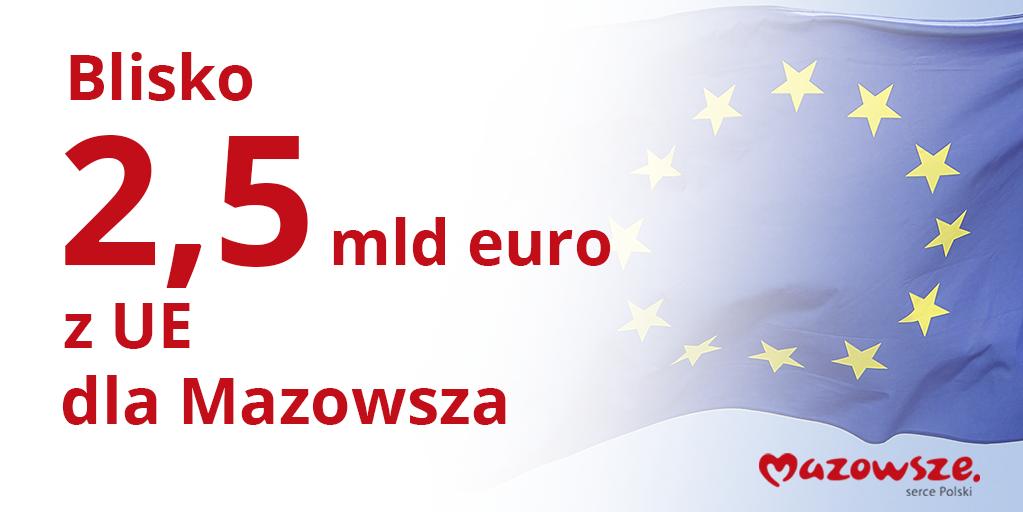 2,5 MLD EURO DLA MAZOWSZA