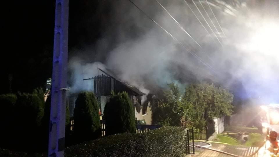 Tragiczny pożar w Łazach