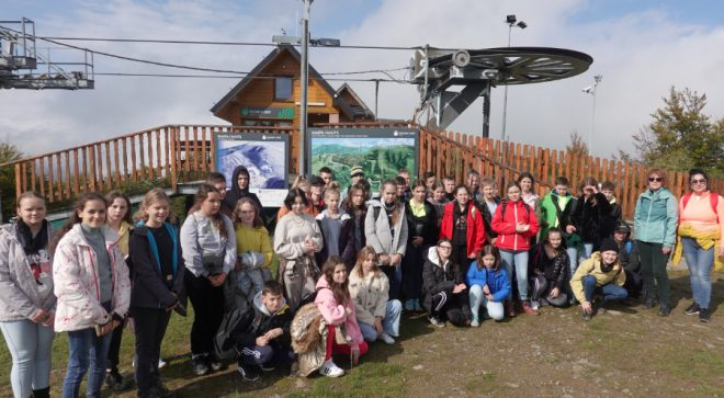 Uczniowie PSP nr 2 w najdłuższej miejscowości w Polsce
