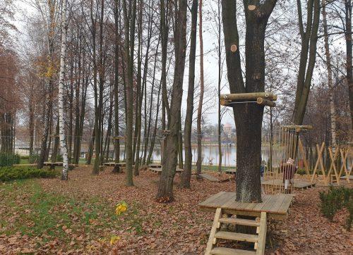 Park linowy nad zalewem otwarty