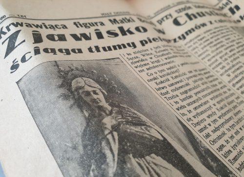 Zjawisko w Chustkach. Informacja z 1938 roku.