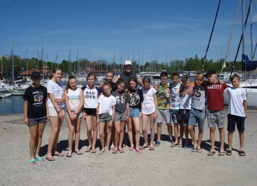 Klasa sportowa uczestniczyła w obozie letnim