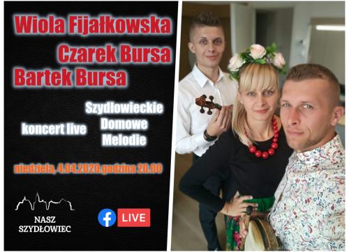 """""""Szydłowieckie Domowe Melodie"""" – Wiola Fijałkowska, Czarek Bursa i Bartek Bursa"""