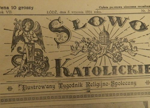 """Handel w mieście Szydłowcu"" – Słowo Katolickie 1931 rok."